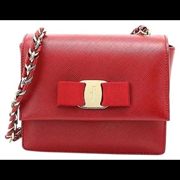 Salvatore Ferragamo Bags   Nib Ginny Rosso Crossbody Bag   Poshmark 87b6d58dde